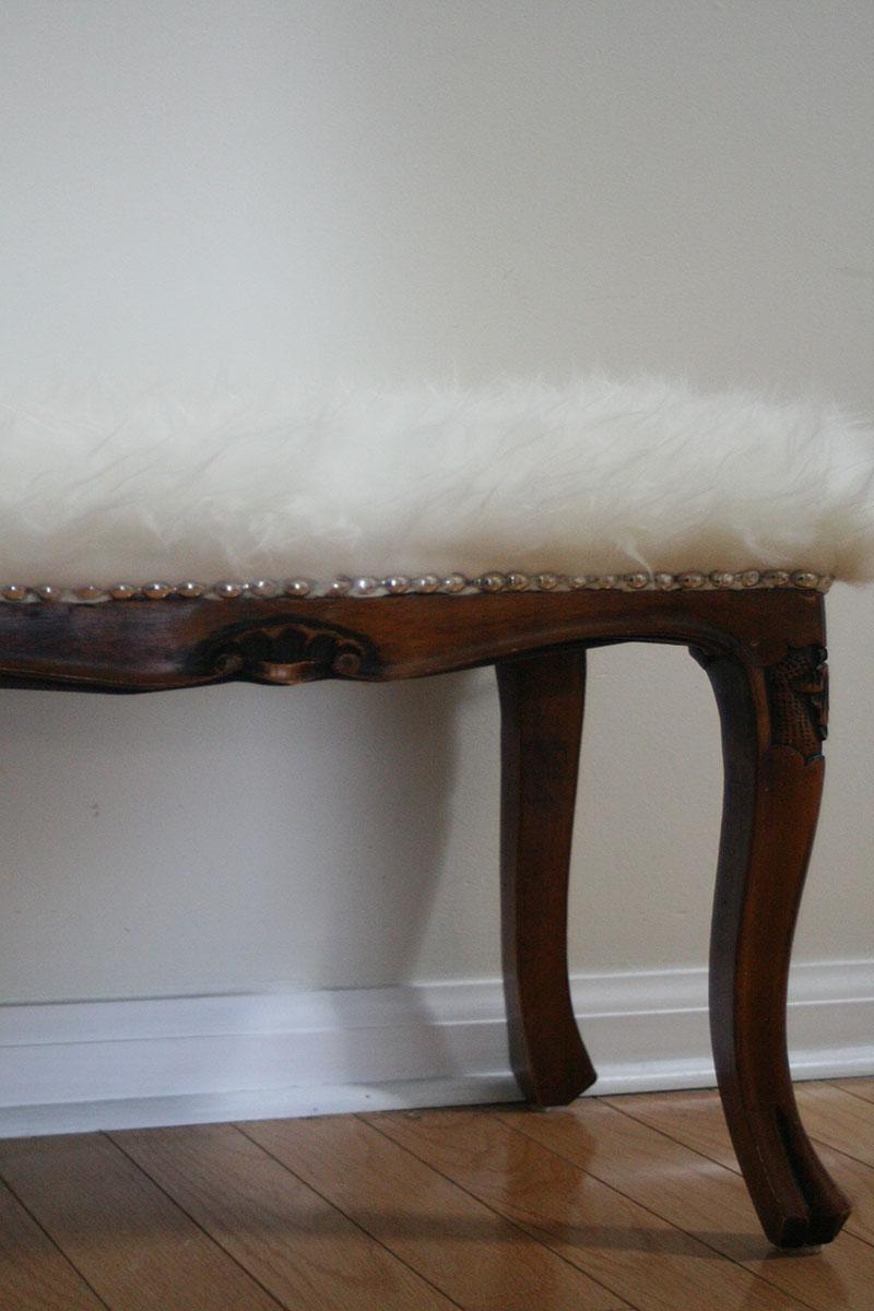 fluffy bench