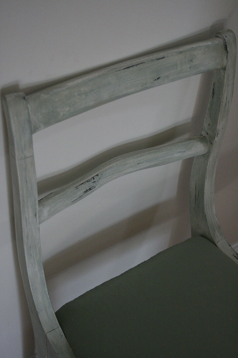 mint green chair